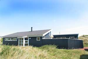 Holiday home. Renovated in 2003. Situated on a 1275 qm site. The house is heated by electricity. 1 bathroom with shower. 1 toilet. Freezer. Microwave oven. Dish washer. Woodburning stove. Stereo set.  ...