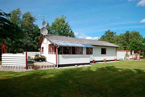 Holiday home. Built in 1974. Situated on a 1260 qm site. The house is heated by electricity. 1 bathroom with shower. 1 toilet. Oven/minioven. Woodburning stove. Stereo set. CD. Digital satellite dish. ...