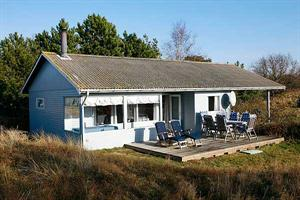 Holiday home. Built in 1968. Renovated in 2003. Situated on a 800 qm site. Sea view from house and site. The house is heated by electricity. 1 bathroom with shower. 1 toilet. Freezer. Woodburning stov ...