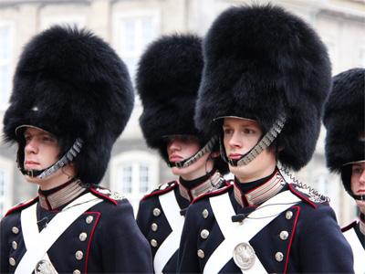 Gardere ved kongeslottet Amalienborg - 272