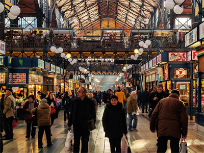 Lokal Bazar i Budapest, Ungarn - 282