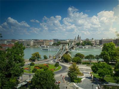 Budapest ved floden Danube - 284