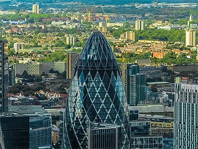 The Gherkin (Agurken) i Londons finanskvarter - 350