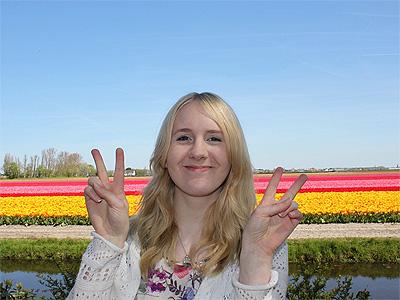 Holland er kendt for tulipandyrkning - 380