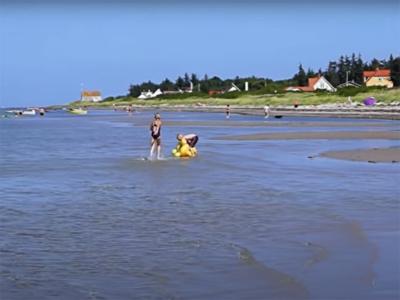 Stranden er fin og børnevenlig - 520