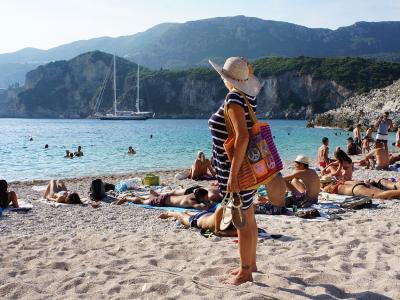 Strand på Korfu - 598