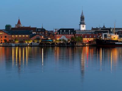 Havnefronten set fra Nørresundby - 744