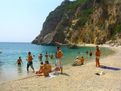 Strandliv i Agios Gordios - 928