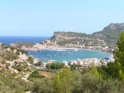 Port de Sóller set fra bjergene i syd - 988